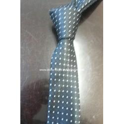 Cravate bicolore motif pois