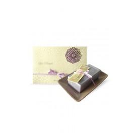Savon pur végétal 200 gr lavande porte savon rectangulaire